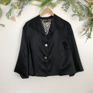Ashley Stewart black bell sleeve blazer size 18